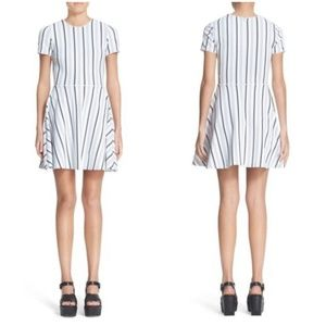 Opening Ceremony Fit n Flare Striped Dress